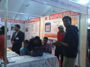 Me at Cyber cops Stall in Comp - EX 2009, Nagpur