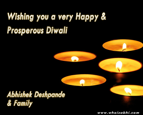 Wish you a very happy & prosperous Diwali !!