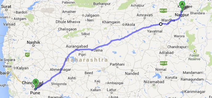Nagpur to Pune Route